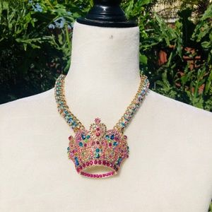 Betsey Johnson Trolls Crown Necklace